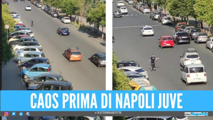 Napoli-Juventus, parcheggiatori abusivi scatenati all'esterno dello stadio Maradona