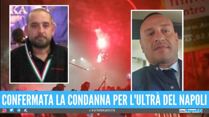 A sx la vittima Daniele Belardinelli, a dx l'ultrà del Napoli condannato per omicidio stradale Fabio Manduca