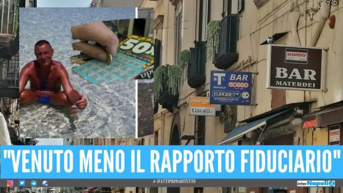 L'Agenzia Dogane e Monopoli ha avviato il procedimento di revoca «alla vendita delle scommesse» nei confronti della tabaccheria di via Materdei a Napoli, coinvolta nel furto di un tagliando vincente del Gratta e Vinci
