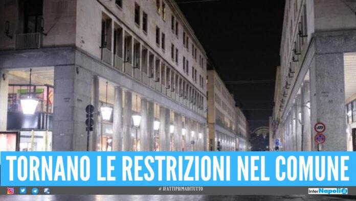 Comune torna in lockdown: divieto di circolazione, restrizioni per feste e matrimoni