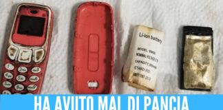 Ingoia un Nokia 3310 intero e lo tiene nello stomaco per 4 giorni, forti dolori alla pancia