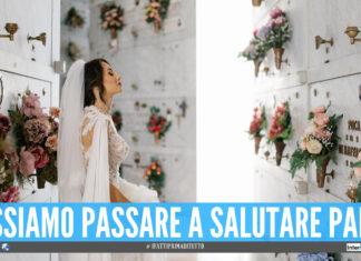 La giovane sposa Alessia nello scatto pubblicato su Facebook dalla fotografa Angelica Casaccia