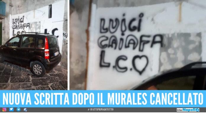 Scritta Luigi Caiafa a Forcella