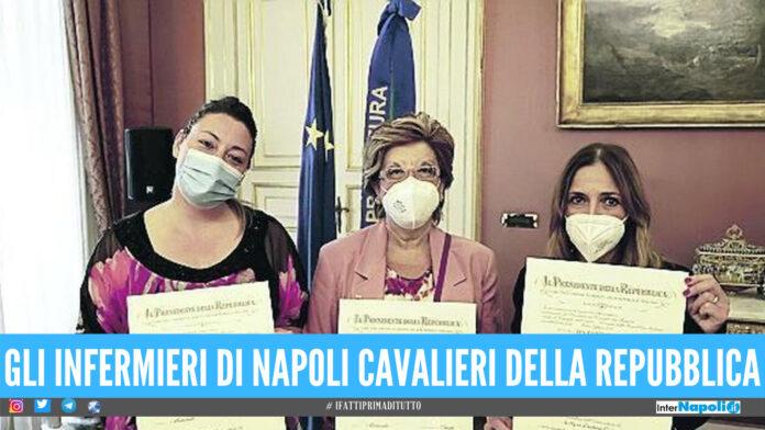 Onorificenza per gli infermieri di Napoli per la lotta contro il covid