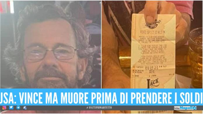 USA: un uomo vince la lotteria ma muore prima di incassare i soldi