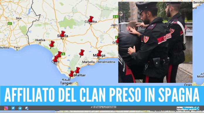 Latitante del clan preso in Spagna, catturato a Malaga Gaetano Angrisano della Vinella-Grassi