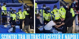 Scontri tra ultras Leicester e Napoli