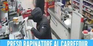 rapina al Carrefour a Napoli