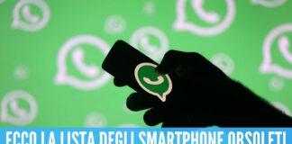 Dal primo novembre WhatsApp sarà bloccato su alcuni smartphone