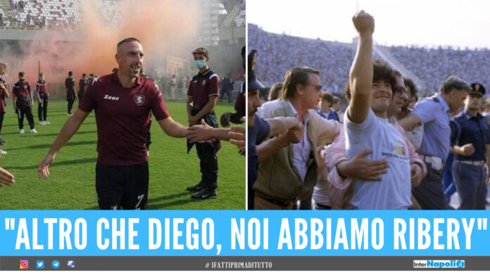 Franck Ribery e Diego Armando Maradona