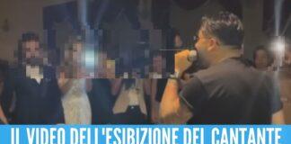 Il neomelodico De Martino canta al matrimonio della figlia del narcos
