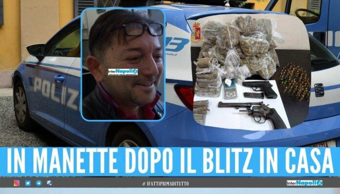 Sorpreso con 2 pistole e oltre 2 kg di droga, arrestato a San Pietro a Patierno