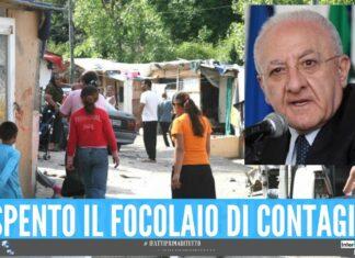 Stop alla zona rossa nel campo rom di Giugliano, l'annuncio dell'Asl