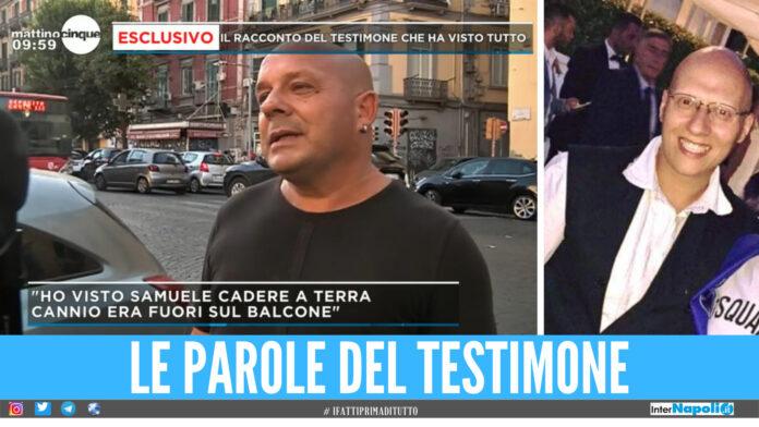 Sulla sinistra un testimone intervistato a Mattino 5, sulla destra Mariano Cannio
