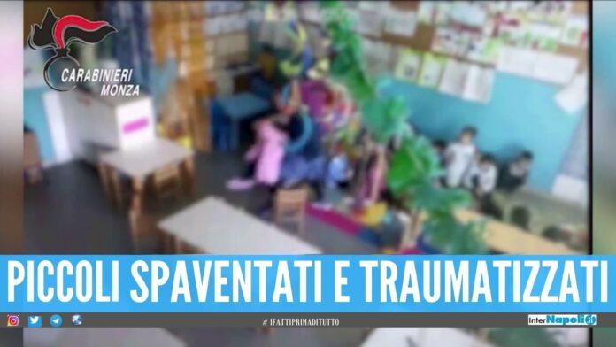 Stacco la testa, maestra incastra dal video mentre picchia i bimbi asilo