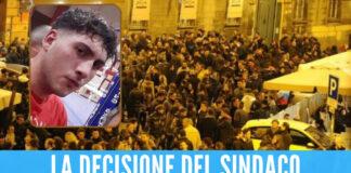 Morte Gennaro Leone, pugno duro del sindaco di Caserta: «Chiusura anticipata dei locali»