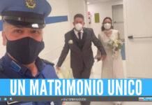 Lacrime di gioia in ospedale a Napoli, Erika visita la madre malata di Covid in abito da sposa