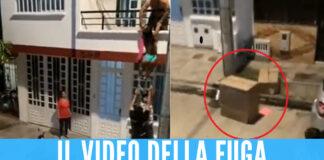 [VIDEO] Scopre il tradimento del fidanzato, l'amante 'nana' scappa in uno scatolone