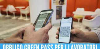 green pass obbligatorio per i lavoratori