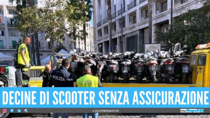 Blitz nel centro storico di Napoli, 33 motorini erano senza assicurazione