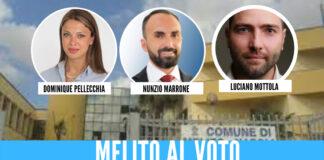 Liste dei tre candidati a Melito