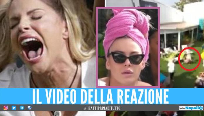 Francesca Cipriani impazzita al GF Vip, capriole a terra e urla dopo il messaggio del fidanzato