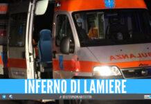 Incidente a Marcianise, 5 persone incastrate tra le lamiere: tra i feriti anche una donna incinta