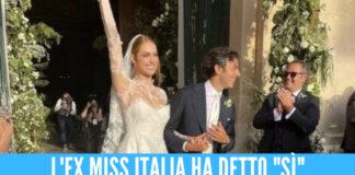 Miriam Leone il giorno delle sue nozze