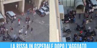 [VIDEO] Rissa dopo l'agguato all'ospedale Pellegrini, coinvolte oltre 50 persone