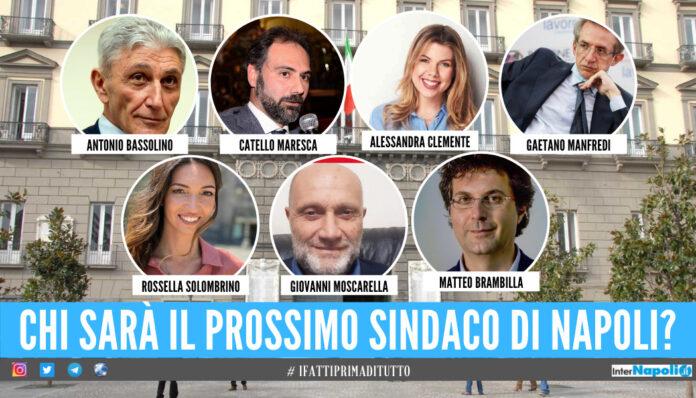 I 7 candidati alla carica di sindaco di Napoli