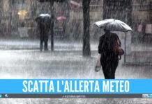 Allerta meteo gialla sulla Campania