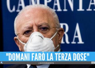 Terza dose di vaccino, domani tocca a De Luca: l'annuncio del governatore della Campania
