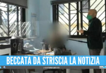 Luca Abete di Striscia la Notizia incontra la dipendete al Comune di Ercolano