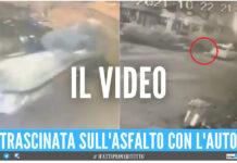 Momenti di terrore a Napoli, ragazza rapinata a trascinata con l'auto per diversi metri: il video