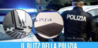 Blitz ad Arzano sulla Circumvallazione, scoperta casa con console e computer rubati