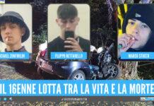 Inferno di lamiere nella notte, morti 3 ragazzi di 17 e 18 anni dopo l'incidente: gravissimo un 16enne