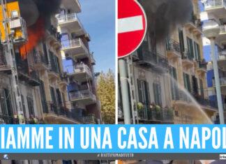 Appartamento in fiamme a Napoli, vigili del fuoco sul posto: grande spavento al Vomero