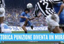 La punizione di Maradona in Napoli-Juve diventa un murales, a Qualiano l'iniziativa per ricordare il Pibe de Oro