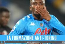 Napoli-Torino, annunciate le formazioni ufficiali: gli 11 di Spalletti per riprendersi il primo posto