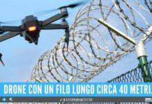 Drone in volo nel carcere campano, sventata la consegna della droga