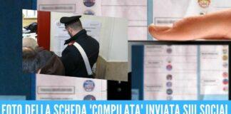 Fanno foto e video alla scheda elettorale, 2 denunciati in provincia di Napoli