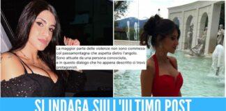 Il fidanzato di Dora indagato per istigazione al suicidio, giallo sull'ultimo post