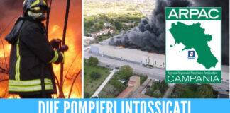 Incendio fabbrica Airola