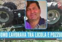 Michele schiacciato dal trattore, Qualiano in lutto per la morte dell'agricoltore