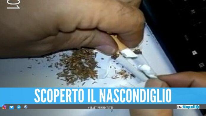 Nascondeva la cocaina nelle sigarette, arrestato pusher di Napoli
