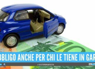 Pagamento obbligatorio dell'assicurazione anche per chi non usa auto e moto
