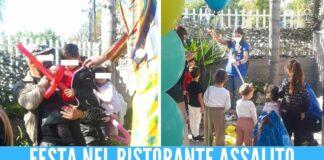 Rapina a Casavatore, festa con animazione per il bimbo minacciato dal fucile