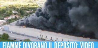 Scuole chiuse dopo l'incendio ad Airola, la nube arriva anche a Napoli
