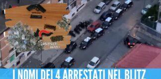Trovate armi e droga nel Rione Traiano, arrestate 4 persone vicine al clan