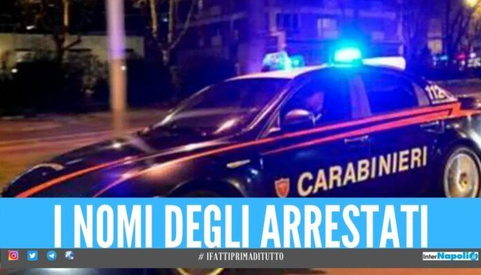nomi carabinieri arresti Rapinano 2 ragazze dopo l'invito a casa, catturati dai carabinieri a Napoli